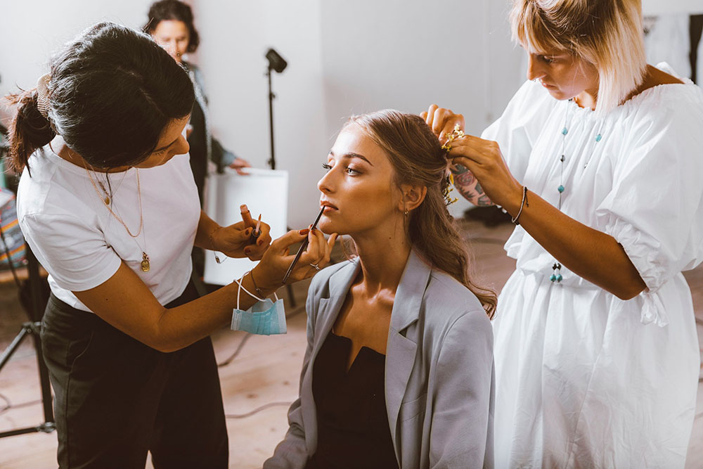 Backstage styled shoot