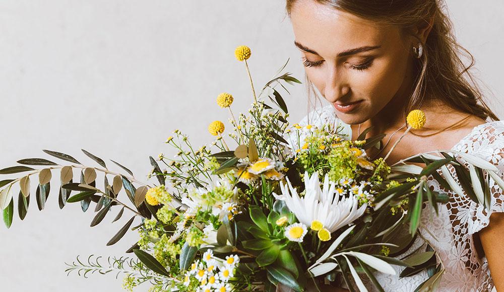 Bouquet da sposa con succulente