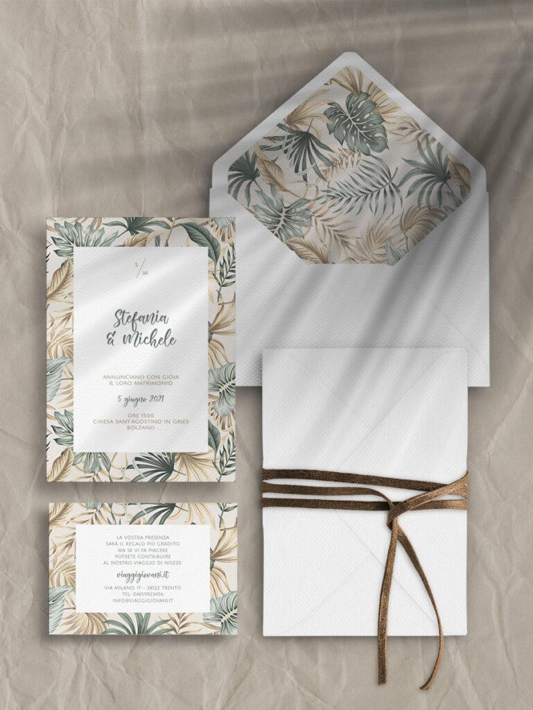 Partecipazioni di nozze - modello tropical
