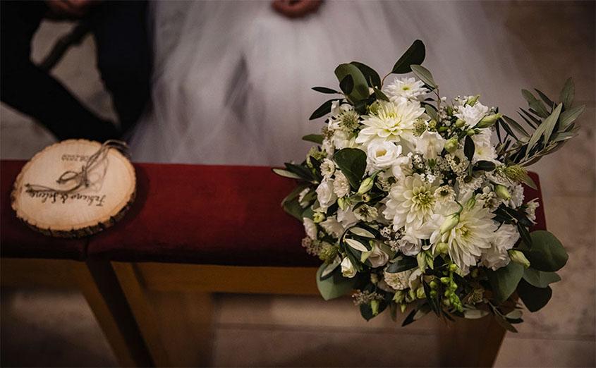 S+F matrimonio Covid a Bolzano - mazzo da sposa