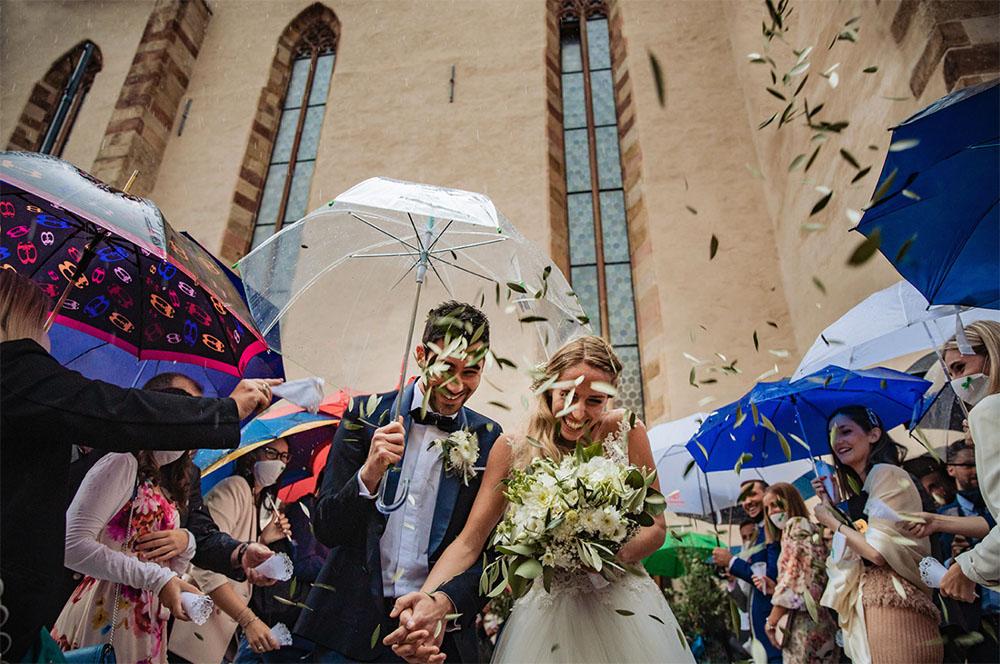 S+F matrimonio con la pioggia a Bolzano
