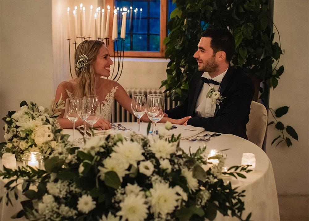 S+F fiori per il tavolo degli sposi