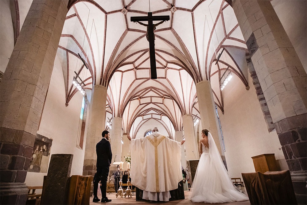 S+F matrimonio nella Chiesa dei Domenicani a Bolzano