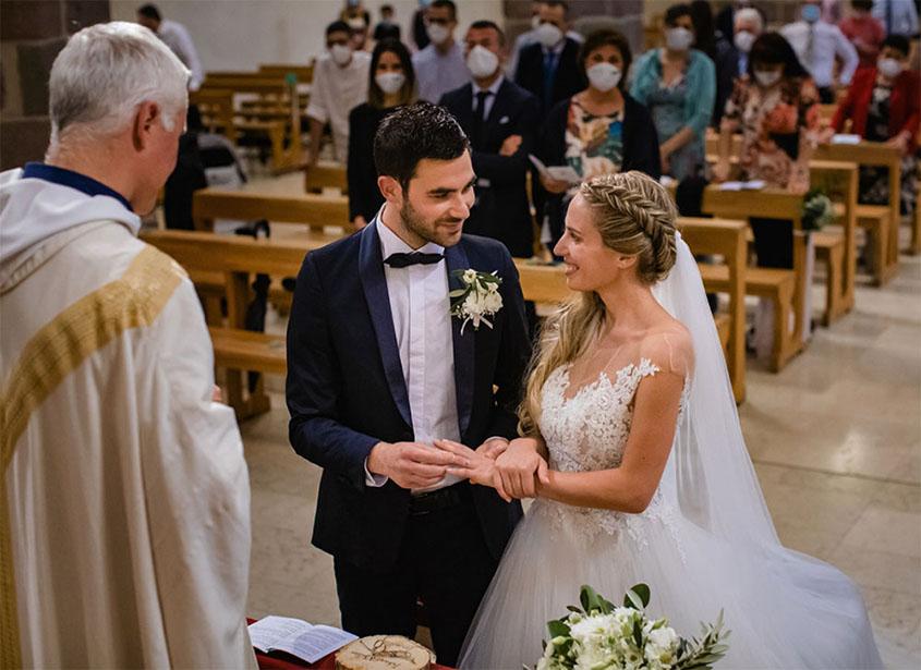 S+F matrimonio bagnato a Bolzano - chiesa dei Domenicani