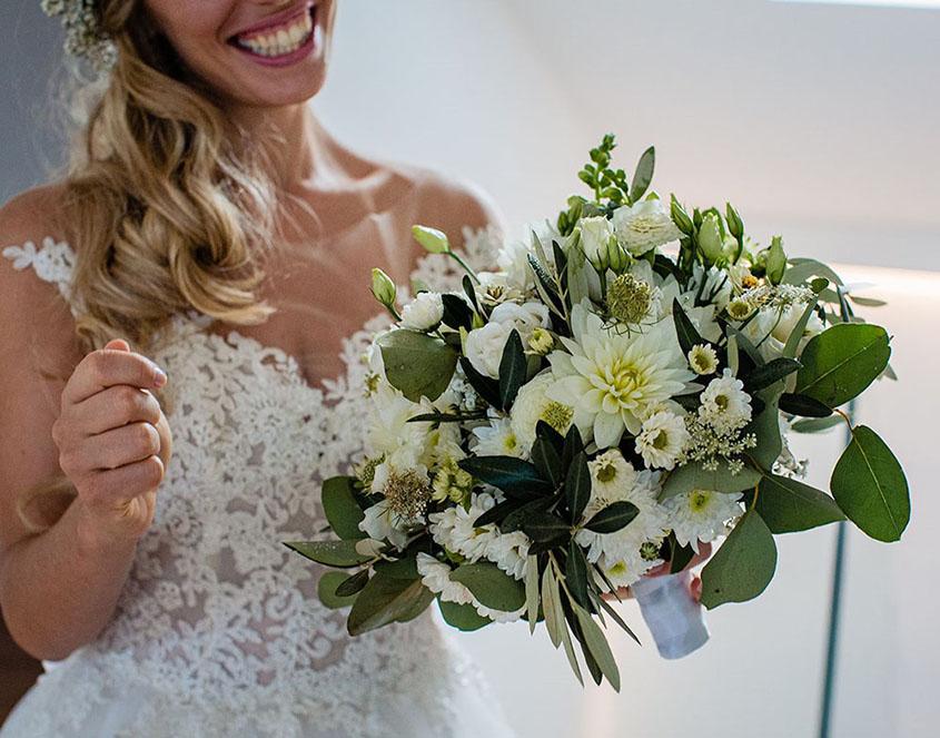 S+F matrimonio bagnato a Bolzano - bouquet da sposa