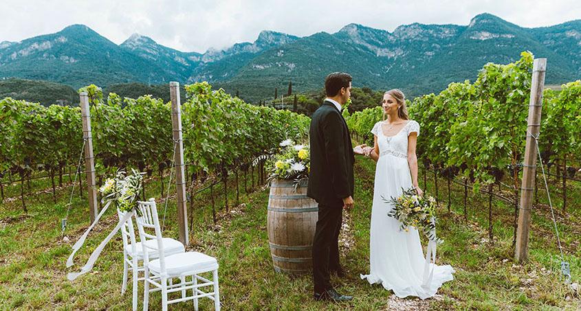 Cerimonia in mezzo alle vigne