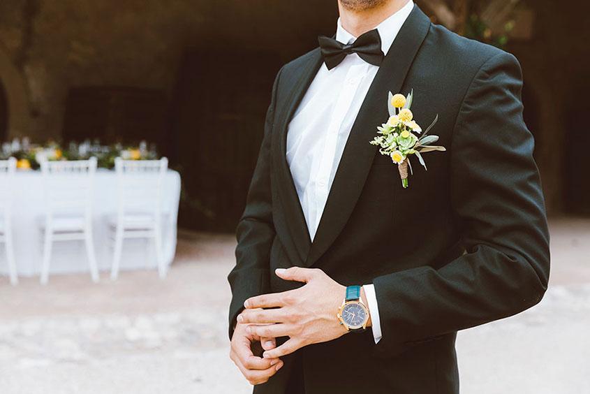 Bottoniera per lo sposo