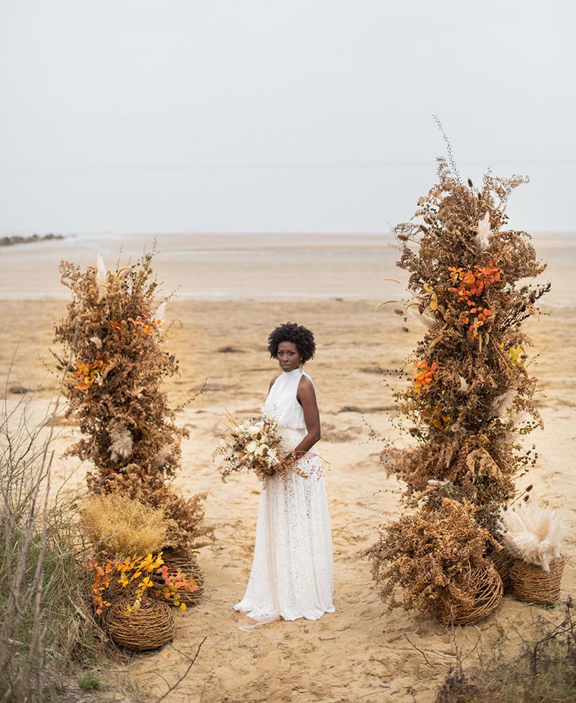 Decorazione matrimonio con fiori secchi