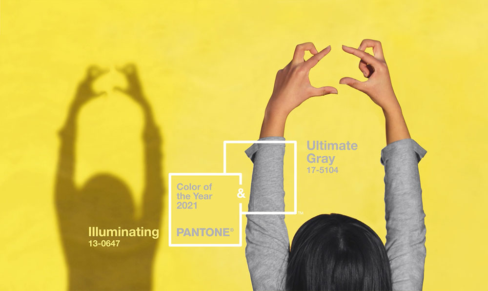Pantone Illuminating Ultimate gray