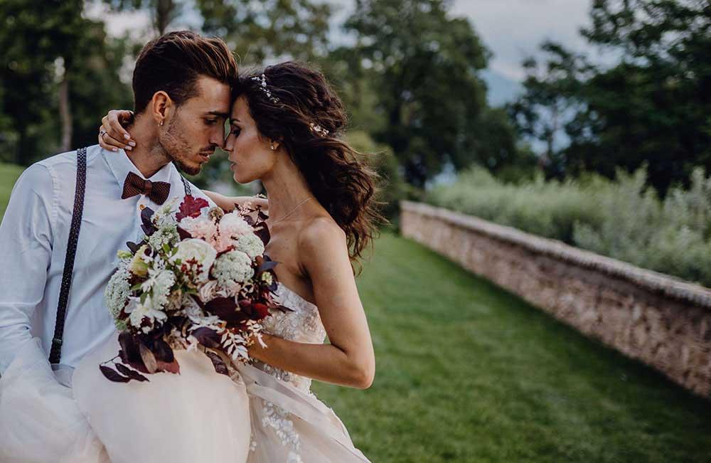 Fiori per matrimonio nel castello