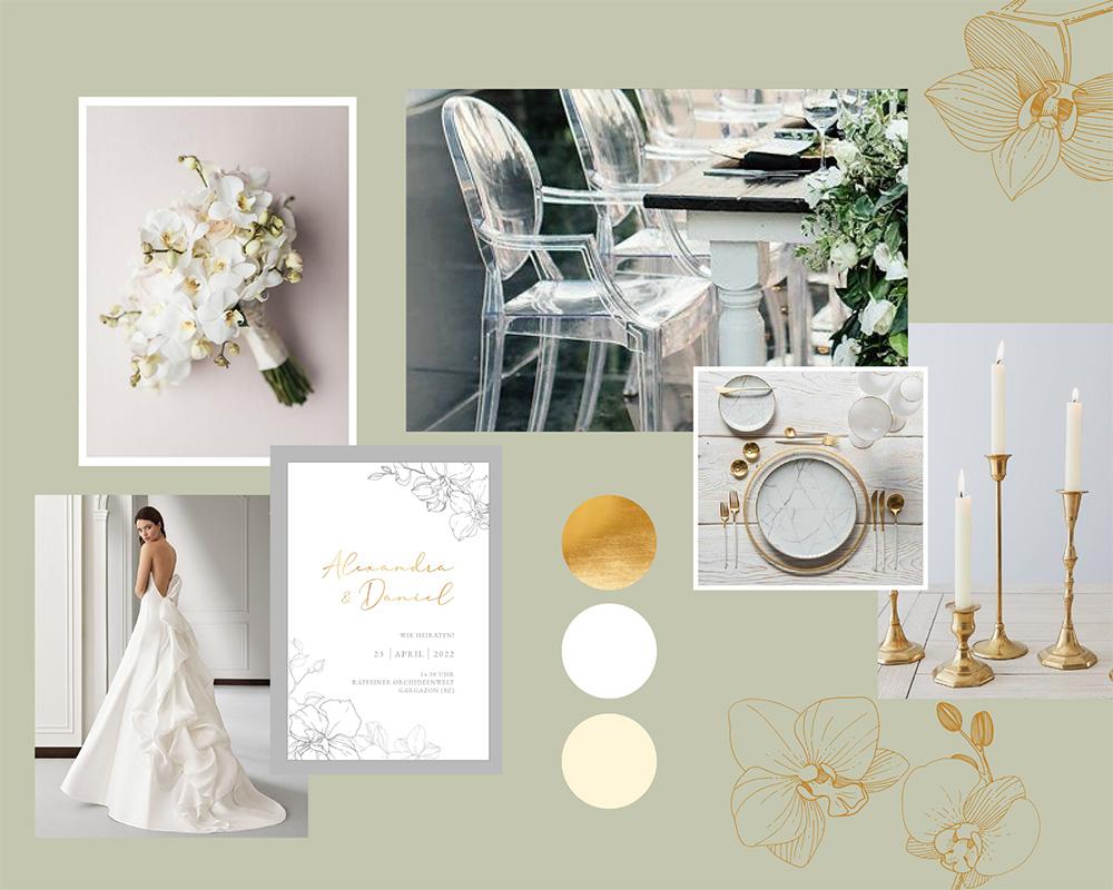 moodboard white&gold k&n fineweddings