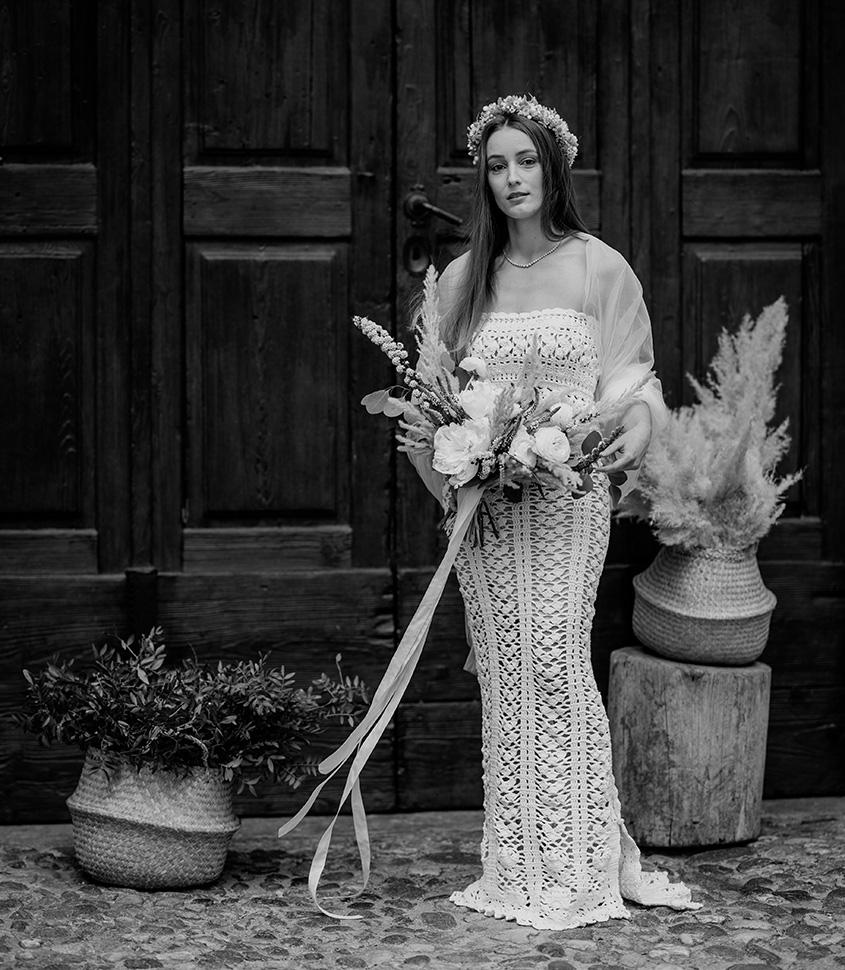 Matrimonio in stile boho vintage in stile retrò