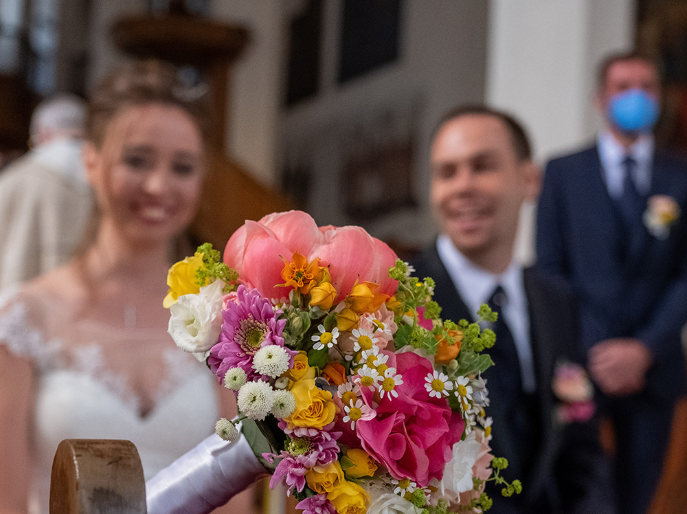 Bouquet da sposa Matrimonio chiesa dei Francescani a Bolzano