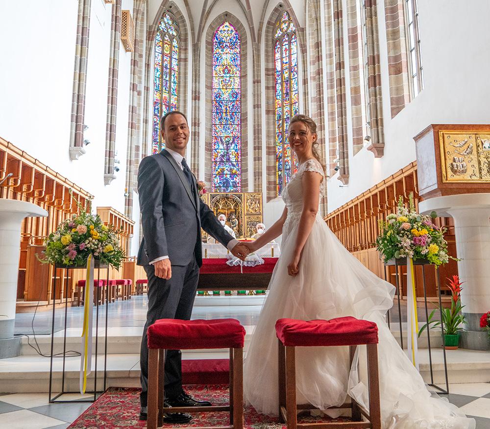 Decorazione floreale matrimonio chiesa dei Francescani a Bolzano