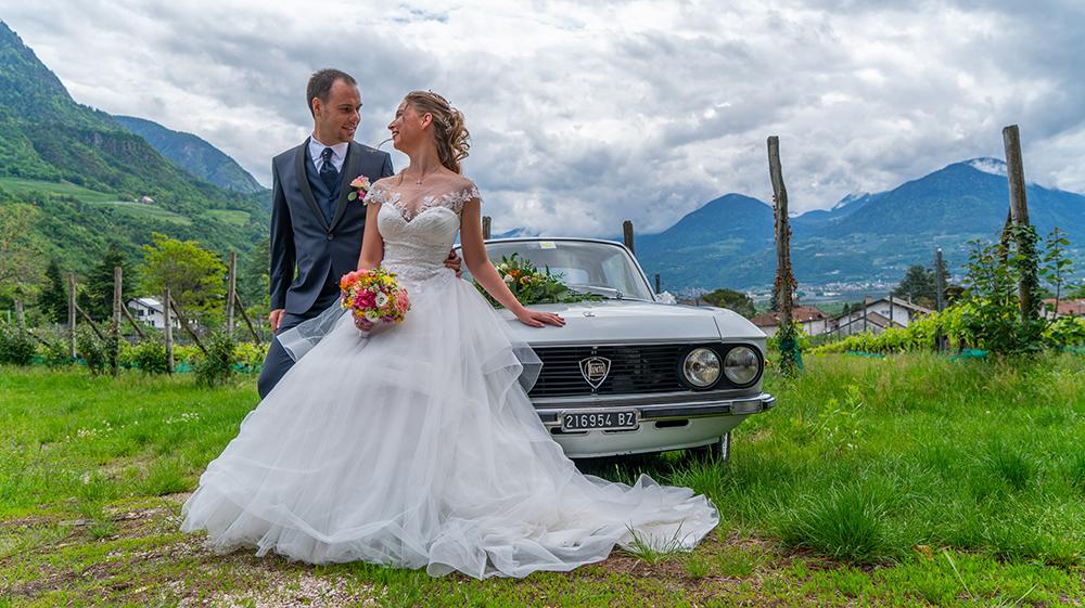 Decorazione macchina d'apoca Alto Adige