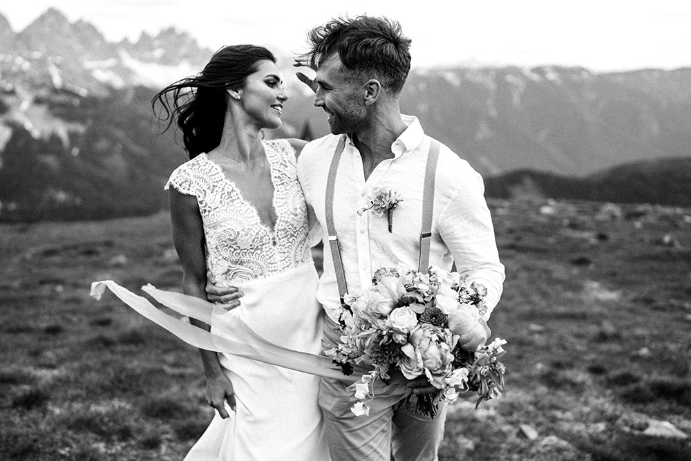 Cerimonia di matrimonio sulle Dolomiti