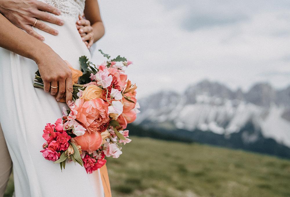 mazzo da sposa matrimonio Dolomiti