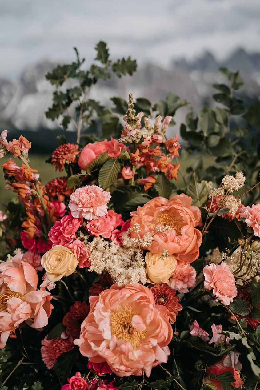 Fiori matrimonio sulle Dolomiti