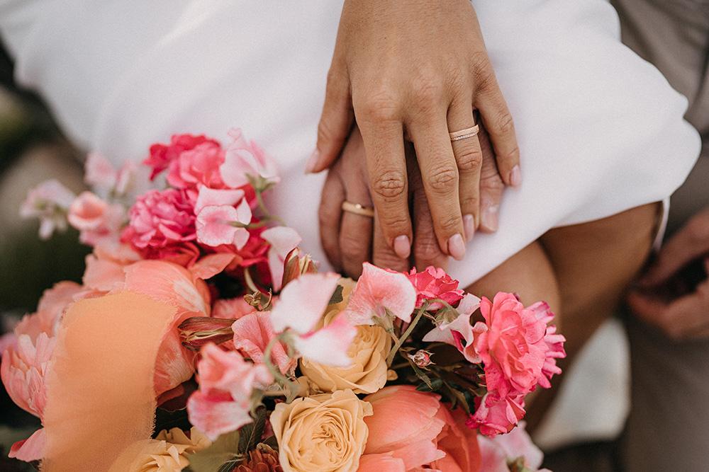 Mazzo da sposa per matrimonio in montagna