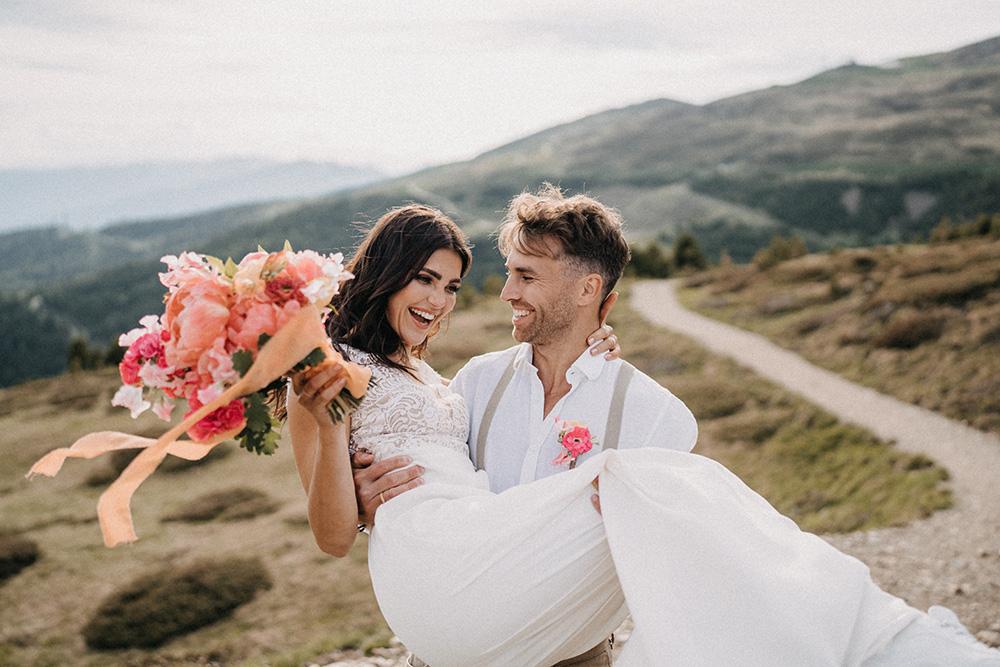 Fiori per matrimonio in montagna